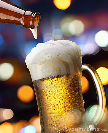 Free Beer With Lights Stock Photos - 7972713
