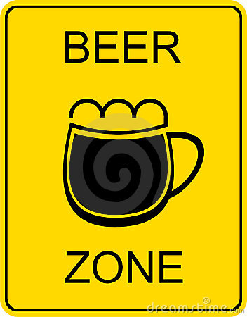 Beer zone - sign