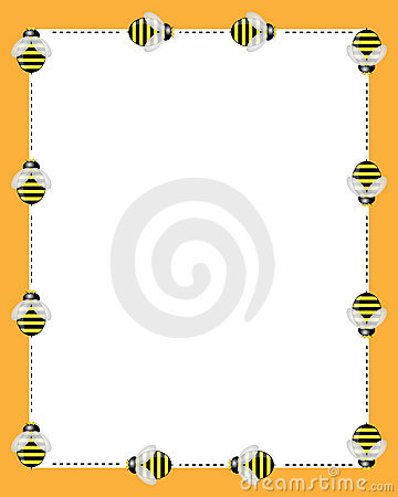 Bees borders frame