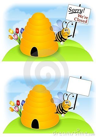 Free Bees Going Out Of Business Stock Photo - 5305680