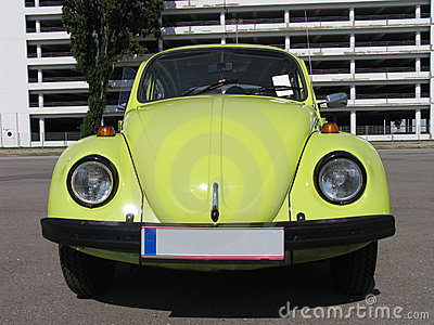 Beetle , Volkswagen, classic design, yellow