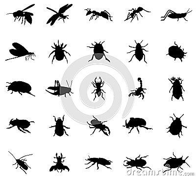 Free Beetles Silhouettes Set Stock Photo - 62495780