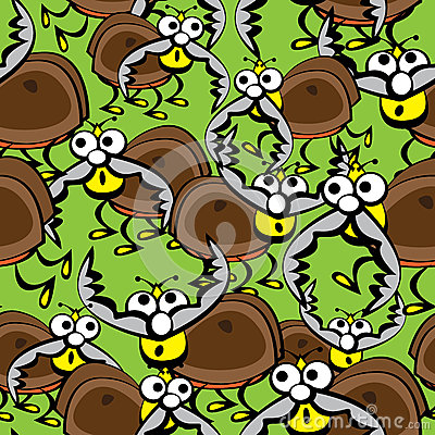 Free Beetles Stags Of Seamless Pattern Stock Images - 37645714
