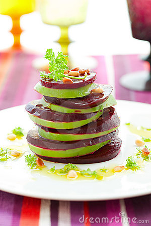 Beetroot and avocado