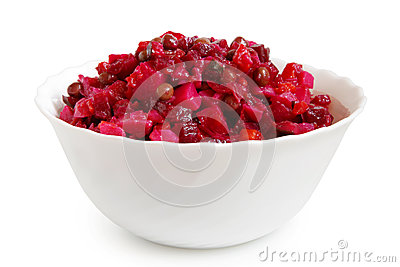 Beetroot salad in bowl