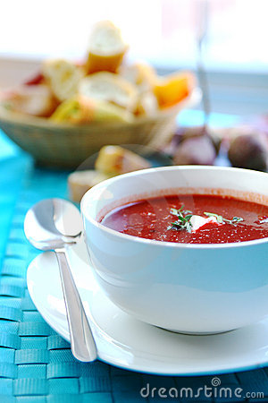 Free Beetroot Soup Royalty Free Stock Photography - 7625657