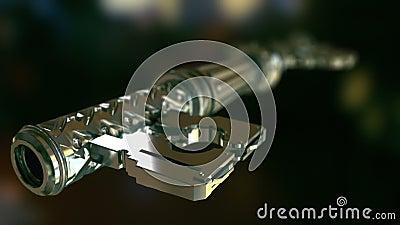 Befestigen Sie, das die Tür entriegelt
