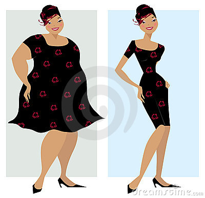 Free Before And After Diet Royalty Free Stock Photos - 2520278