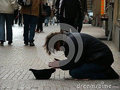 Beggar Editorial Stock Photo