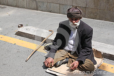 Beggar Editorial Stock Image