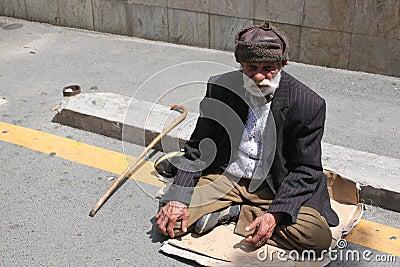 Beggar Editorial Stock Image
