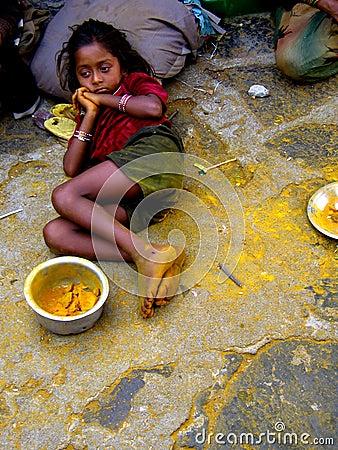 Free Beggar Girl Stock Images - 1557754