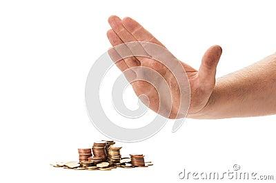 Beggar Hand Refusing Coins Stock Photo - Image: 42506709  Beggar Hand Ref...