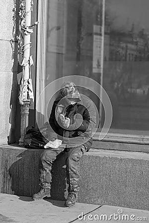Beggar Editorial Photo