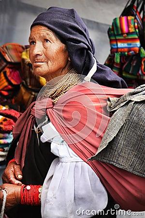 Beggar Woman Editorial Photo