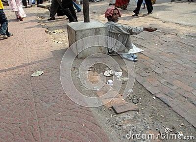Beggars of Calcutta Editorial Stock Photo