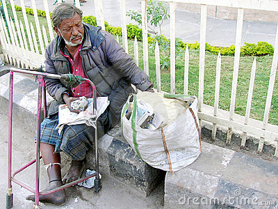 Beggars in India Editorial Stock Image