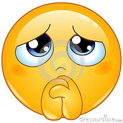 begging emoticon vector illustration cartoondealer com picture of boy praying clipart picture of boy praying clipart