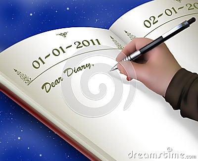 Begin new diary