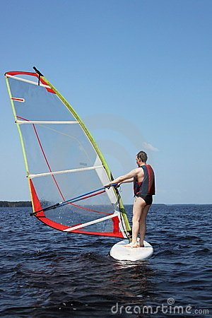 Beginner windsurfer