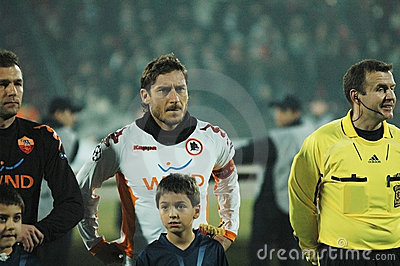 Beginning of AS Roma - CFR Cluj match Editorial Stock Image