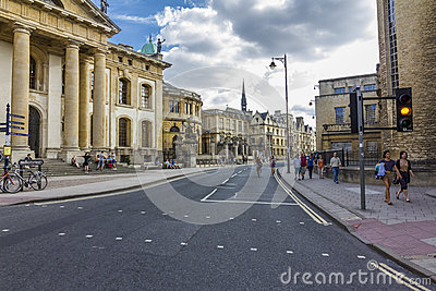 The beginning of Broad Street with numerous historical buildings Editorial Photo