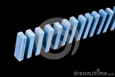 The Beginning of a Domino Rally Concept Image