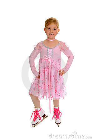Beginning Figure Skater in Pink