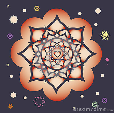 Beginning of spring power mandala