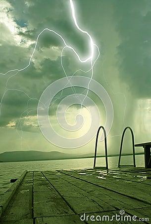 The beginning of the tornado