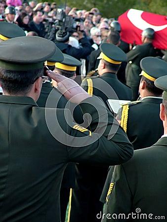 Begräbnis- Zeremonie von Rauf Denktas Redaktionelles Bild
