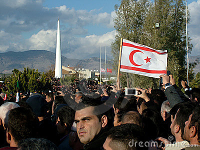 Begrafenis Ceremonie van Rauf Denktas Redactionele Stock Foto