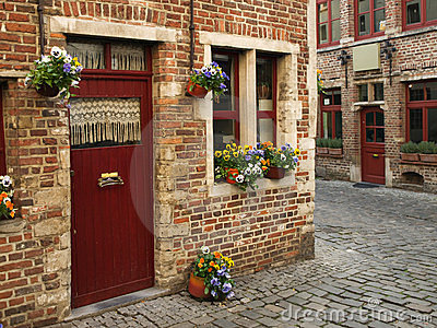 Beguinage district in Ghent