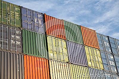 Behållare exporterar fraktsändnings