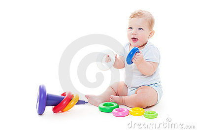 Behandla som ett barn den joyful pojken
