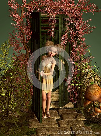 Behind the Doors, 3d CG Stock Photo
