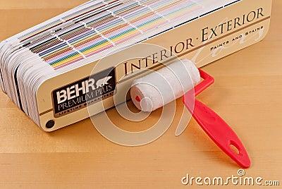 Behr Premium Plus Paint Samples Editorial Photo