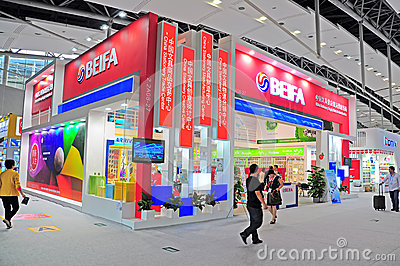 Beifa stationery pavillion at canton fair Editorial Stock Image