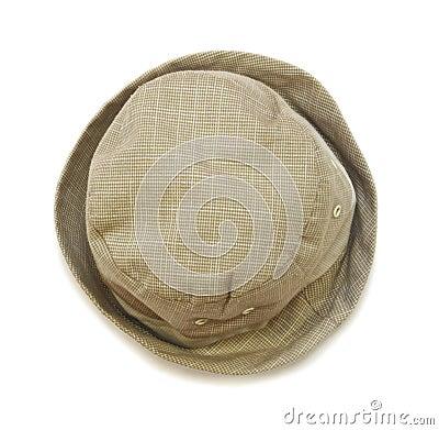 Beige baby panama hat