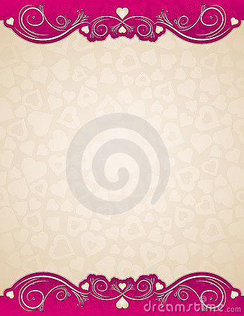 Beige background with hearts