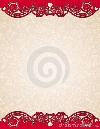 Beige background with roses