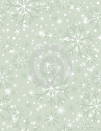 Beige background with snowflakes,  vector