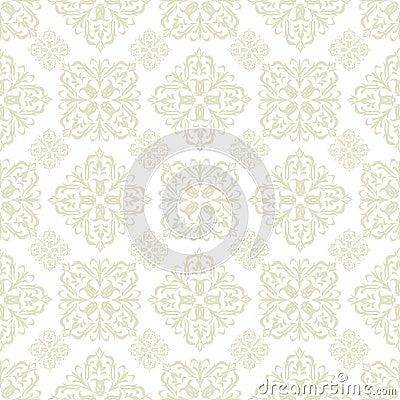 Beige blom- tegelplattawallpaper