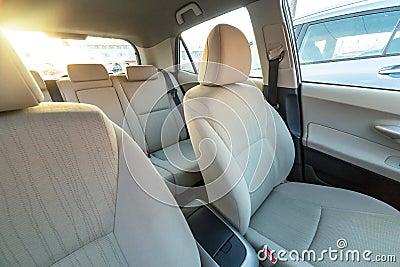Beige car interior