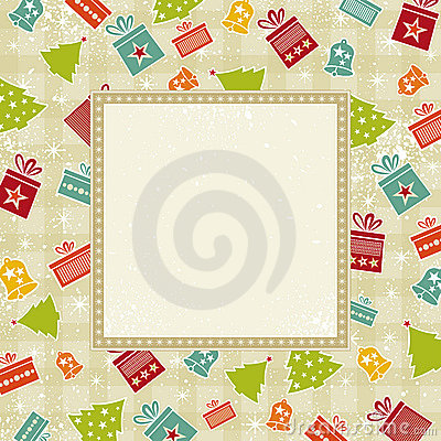 Beige christmas background