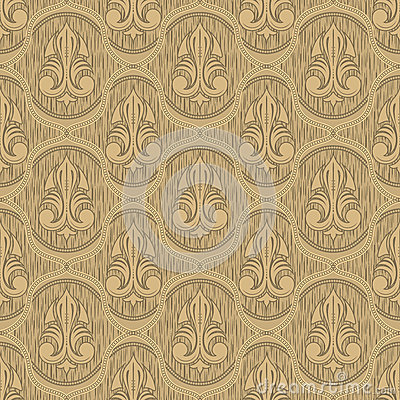 Beige colour old style seamless background