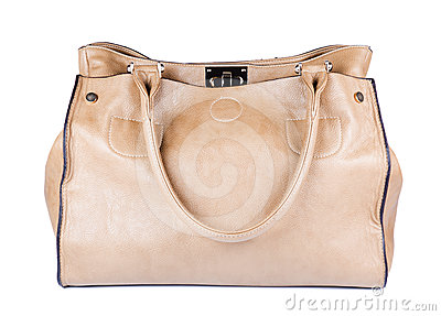 Beige female bag