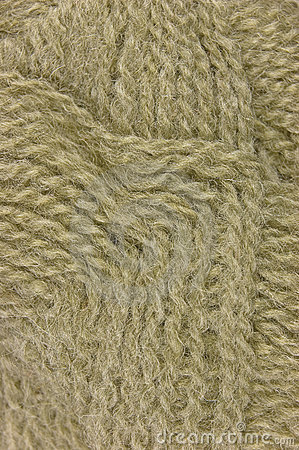 Beige fine wool threads texture clew macro closeup
