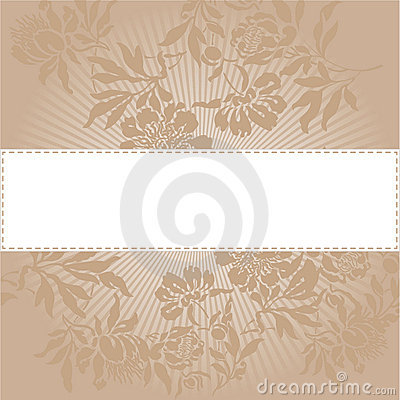 Beige floral background