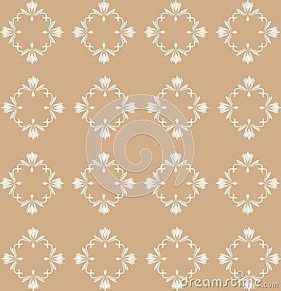 Beige Flourish Pattern